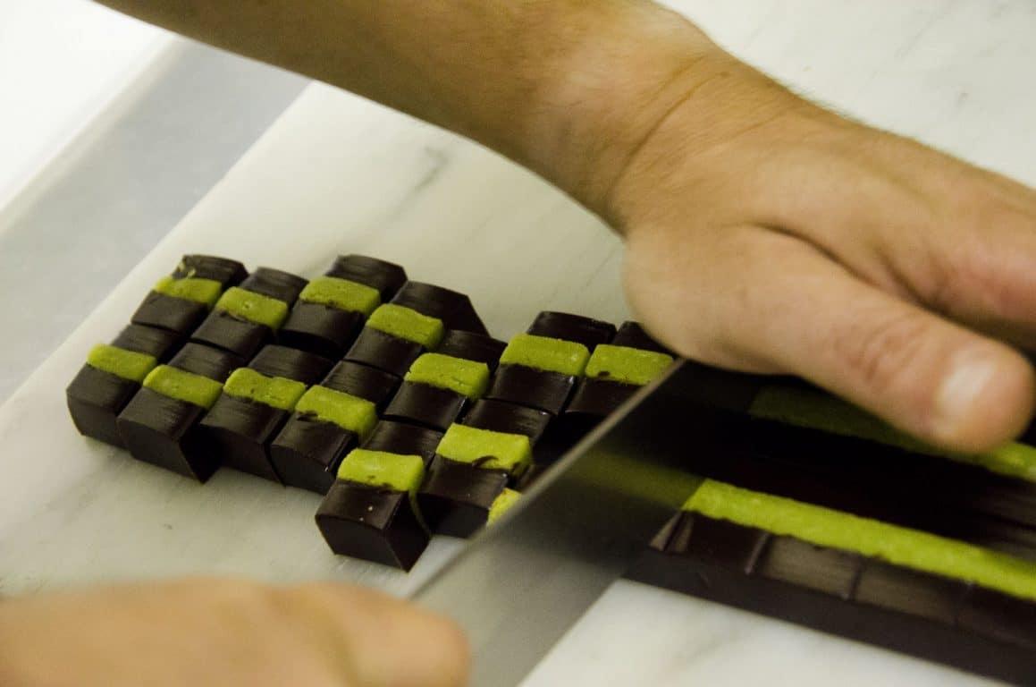Pistache chocolat, fabrique a la main
